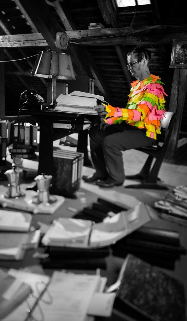 ZETTELWIRTSCHAFT - FOTOGRAFIE AUF ALUDIBOND - 1,60 x 0,80 m - 2012
